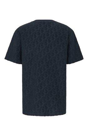 Мужская хлопковая футболка DIOR темно-синего цвета, арт. 113J692A0614C540 | Фото 2 (Материал внешний: Хлопок; Рукава: Короткие; Стили: Кэжуэл; Принт: С принтом)