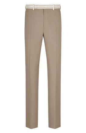 Мужские шерстяные брюки DIOR бежевого цвета, арт. 033C114C4739C180   Фото 1