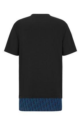 Мужская хлопковая футболка DIOR темно-синего цвета, арт. 113J632A0677C585 | Фото 2 (Материал внешний: Хлопок; Рукава: Короткие; Стили: Кэжуэл; Принт: С принтом)