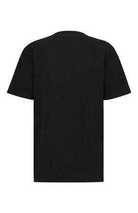 Мужская хлопковая футболка DIOR черного цвета, арт. 113J686A0554C984   Фото 2