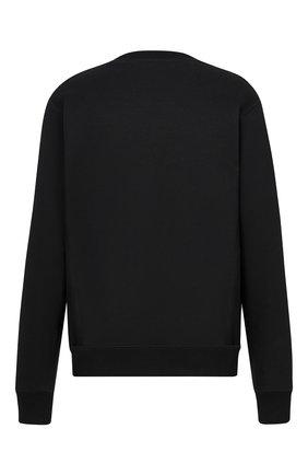 Мужской хлопковый свитшот DIOR черного цвета, арт. 113J687A0531C984   Фото 2