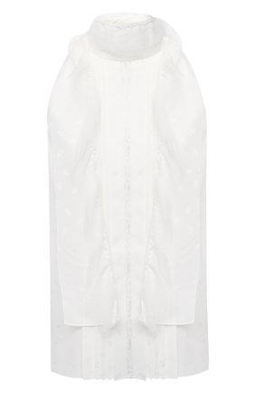 Женский шелковый топ CHLOÉ белого цвета, арт. CHC21SHT34390 | Фото 1