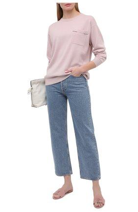 Женские замшевые шлепанцы summer charms LORO PIANA розового цвета, арт. FAI5580   Фото 2