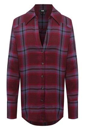 Женская рубашка из хлопка и вискозы PAIGE бордового цвета, арт. 5391H21-8616 | Фото 1
