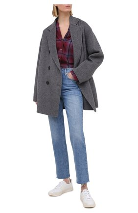 Женская рубашка из хлопка и вискозы PAIGE бордового цвета, арт. 5391H21-8616 | Фото 2