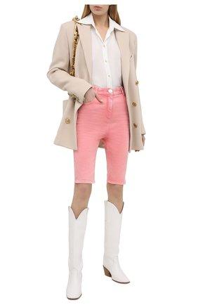 Женские джинсовые шорты BALMAIN розового цвета, арт. VF15425/D090 | Фото 2