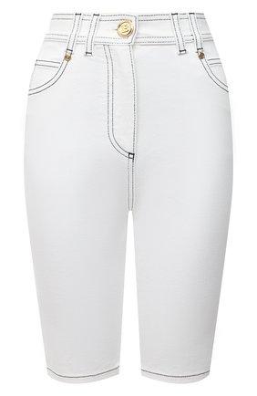 Женские джинсовые шорты BALMAIN белого цвета, арт. VF15425/D087   Фото 1