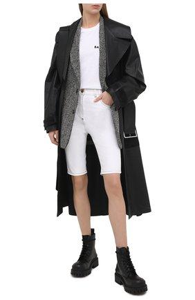 Женские джинсовые шорты BALMAIN белого цвета, арт. VF15425/D087   Фото 2