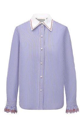 Женская хлопковая рубашка CHLOÉ голубого цвета, арт. CHC21SHT73045 | Фото 1