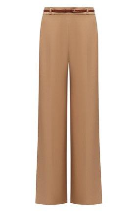 Женские брюки из вискозы CHLOÉ бежевого цвета, арт. CHC21SPA81036 | Фото 1