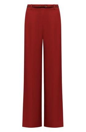Женские брюки из вискозы CHLOÉ красного цвета, арт. CHC21SPA81036 | Фото 1