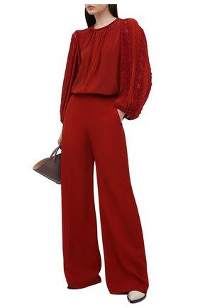 Женские брюки из вискозы CHLOÉ красного цвета, арт. CHC21SPA81036 | Фото 2