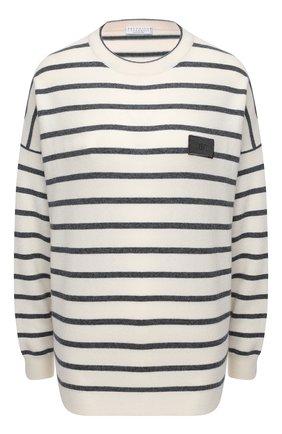 Женский пуловер из шерсти и кашемира BRUNELLO CUCINELLI разноцветного цвета, арт. M16170300 | Фото 1