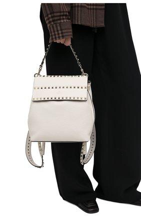 Женский рюкзак rockstud VALENTINO кремвого цвета, арт. VW2B0H60/YRK | Фото 2