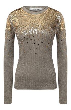 Женский пуловер из вискозы VALENTINO золотого цвета, арт. VB3KC21D68B | Фото 1