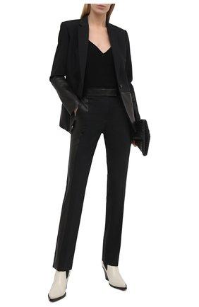 Женские брюки HELMUT LANG черного цвета, арт. K07HW203 | Фото 2