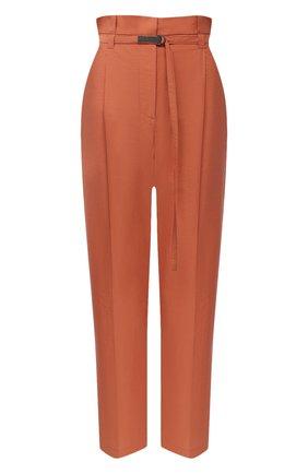 Женские хлопковые брюки BRUNELLO CUCINELLI оранжевого цвета, арт. M0F79P7461 | Фото 1