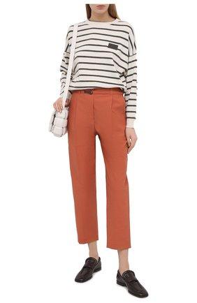 Женские хлопковые брюки BRUNELLO CUCINELLI оранжевого цвета, арт. M0F79P7461 | Фото 2