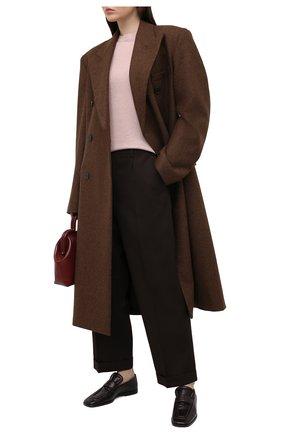 Женский льняной пуловер BRUNELLO CUCINELLI розового цвета, арт. M1T170010 | Фото 2