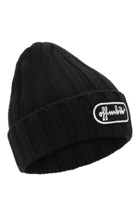 Женская шерстяная шапка OFF-WHITE черного цвета, арт. 0WLA008R21KNI001 | Фото 1