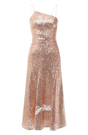 Женское платье с пайетками OFF-WHITE розового цвета, арт. 0WDB301R21FAB001 | Фото 1