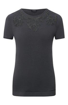 Женская футболка LA PERLA темно-серого цвета, арт. 0043180 | Фото 1