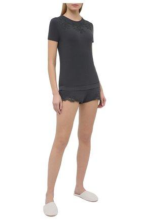 Женская футболка LA PERLA темно-серого цвета, арт. 0043180 | Фото 2