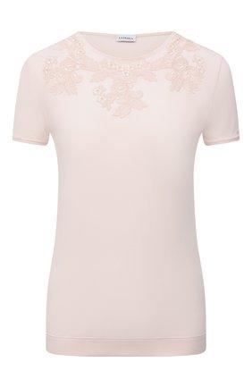 Женская футболка LA PERLA светло-розового цвета, арт. 0043180 | Фото 1