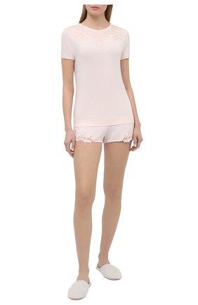 Женская футболка LA PERLA светло-розового цвета, арт. 0043180 | Фото 2