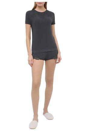 Женские шорты LA PERLA темно-серого цвета, арт. 0043210 | Фото 2