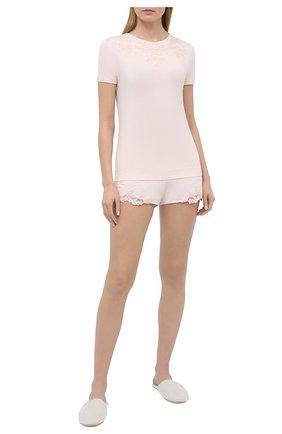 Женские шорты LA PERLA светло-розового цвета, арт. 0043210 | Фото 2