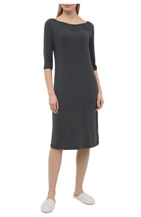 Женская сорочка LA PERLA темно-серого цвета, арт. 0043220 | Фото 2