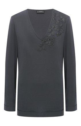 Женская пуловер LA PERLA темно-серого цвета, арт. 0044330 | Фото 1