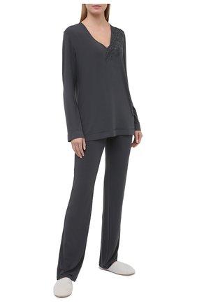 Женская пуловер LA PERLA темно-серого цвета, арт. 0044330 | Фото 2