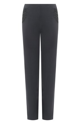 Женские брюки LA PERLA темно-серого цвета, арт. 0044340 | Фото 1