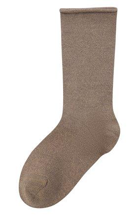 Женские носки из кашемира и шелка BRUNELLO CUCINELLI бежевого цвета, арт. M41945019 | Фото 1