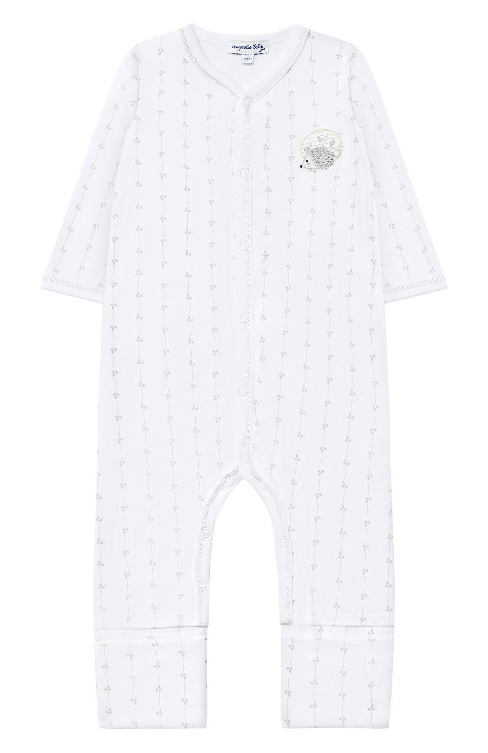 Детский хлопковый комбинезон MAGNOLIA BABY серого цвета, арт. 861-805-SV   Фото 1