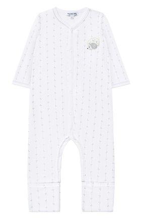 Детский хлопковый комбинезон MAGNOLIA BABY серого цвета, арт. 861-805-SV | Фото 1