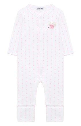 Детский хлопковый комбинезон MAGNOLIA BABY розового цвета, арт. 861-805-PK | Фото 1