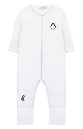 Детский хлопковый комбинезон MAGNOLIA BABY серого цвета, арт. 788-805-SV | Фото 1