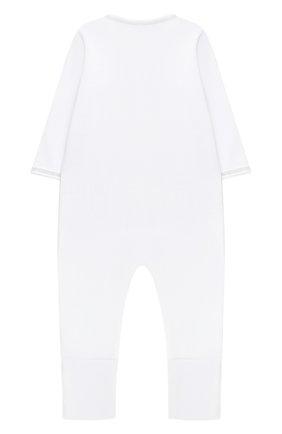 Детский хлопковый комбинезон MAGNOLIA BABY серого цвета, арт. 788-805-SV | Фото 2