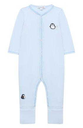 Детский хлопковый комбинезон MAGNOLIA BABY голубого цвета, арт. 788-805-LB | Фото 1