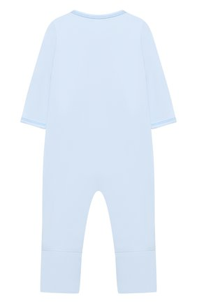 Детский хлопковый комбинезон MAGNOLIA BABY голубого цвета, арт. 788-805-LB | Фото 2