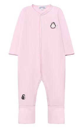 Детский хлопковый комбинезон MAGNOLIA BABY розового цвета, арт. 788-805-PK | Фото 1