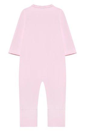 Детский хлопковый комбинезон MAGNOLIA BABY розового цвета, арт. 788-805-PK | Фото 2