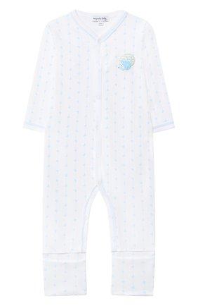 Детский хлопковый комбинезон MAGNOLIA BABY голубого цвета, арт. 861-805-LB | Фото 1