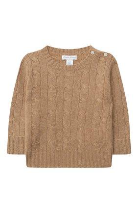 Детский кашемировый пуловер RALPH LAUREN бежевого цвета, арт. 320560705 | Фото 1