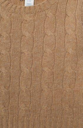 Детский кашемировый пуловер RALPH LAUREN бежевого цвета, арт. 320560705 | Фото 3