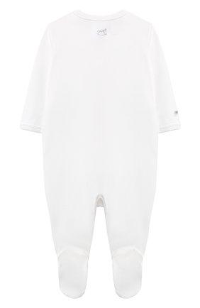 Детский хлопковый комбинезон RALPH LAUREN белого цвета, арт. 320507959 | Фото 2
