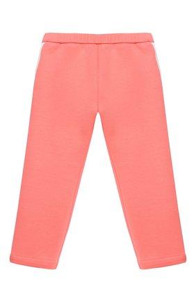 Детские хлопковые брюки EMPORIO ARMANI кораллового цвета, арт. 3KEP07/1JHSZ | Фото 1